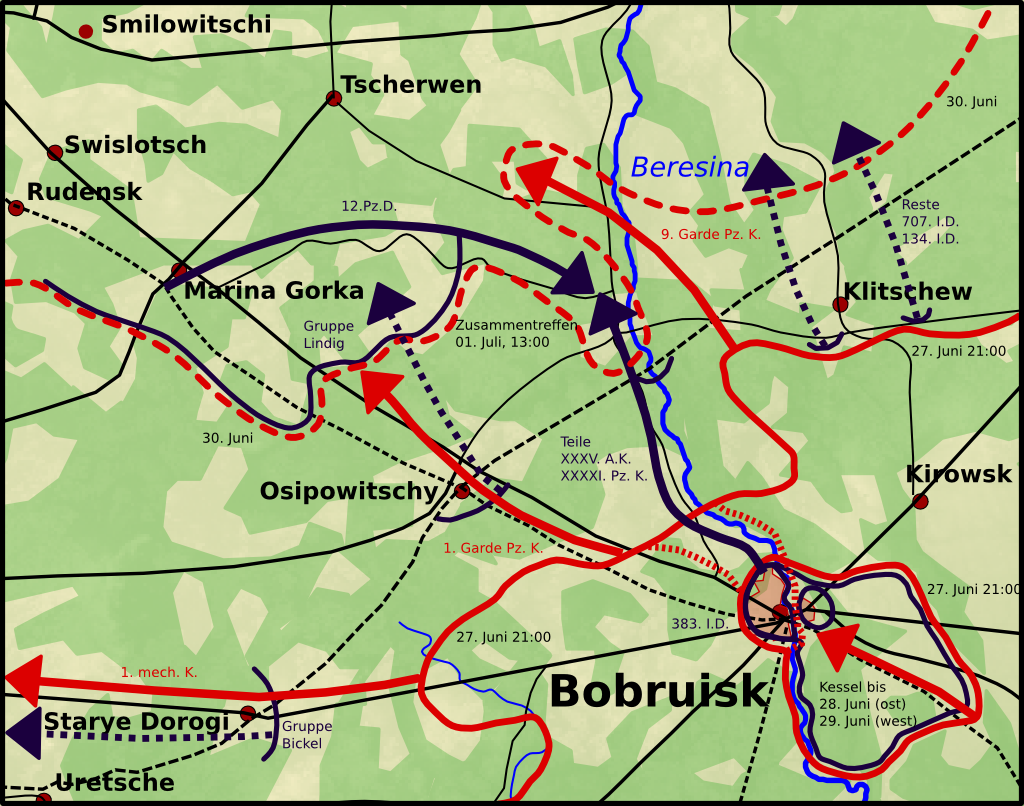 Final stage of the Babruysk offensive