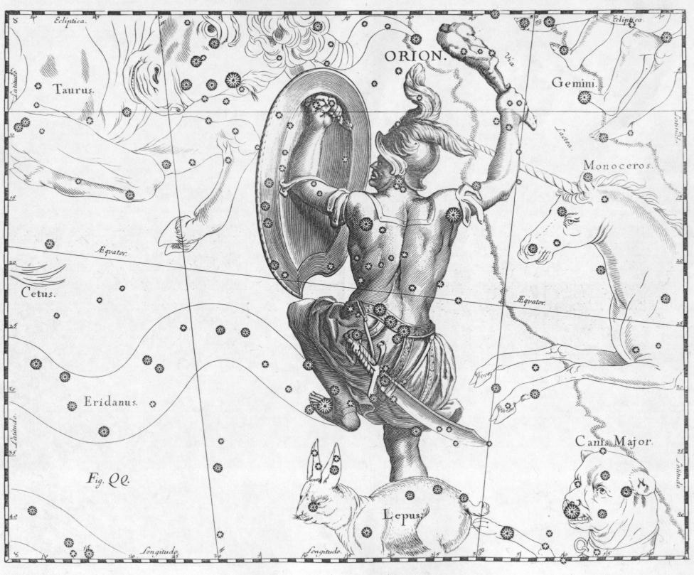 Famous Line Of Artemis : Bushcraft astronomy orion pioneer