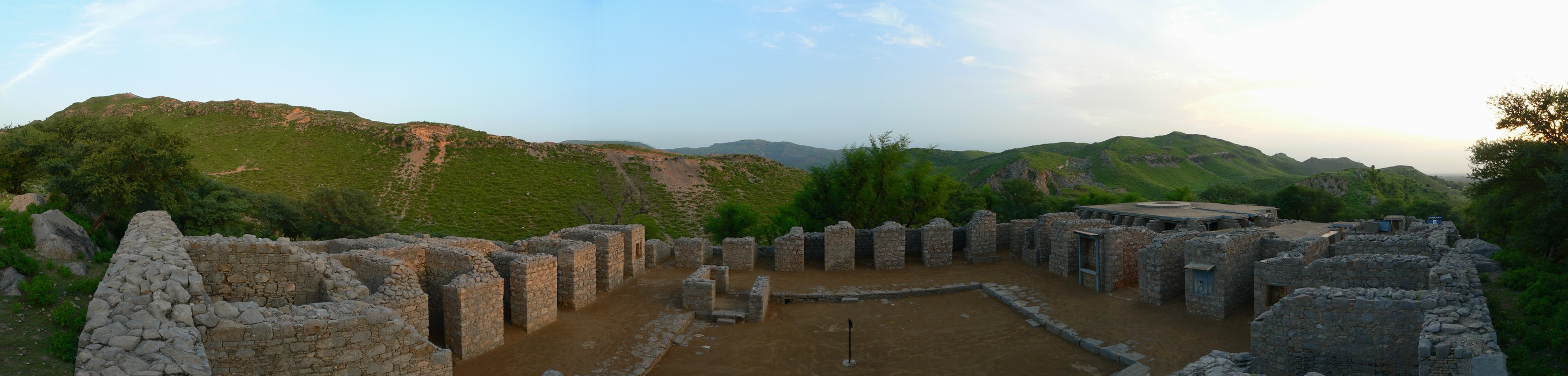 Panorama at Jaulian   Ancient Buddhist Monastery   Taxila2C Pakistan   566 31 - The Real Pakistan