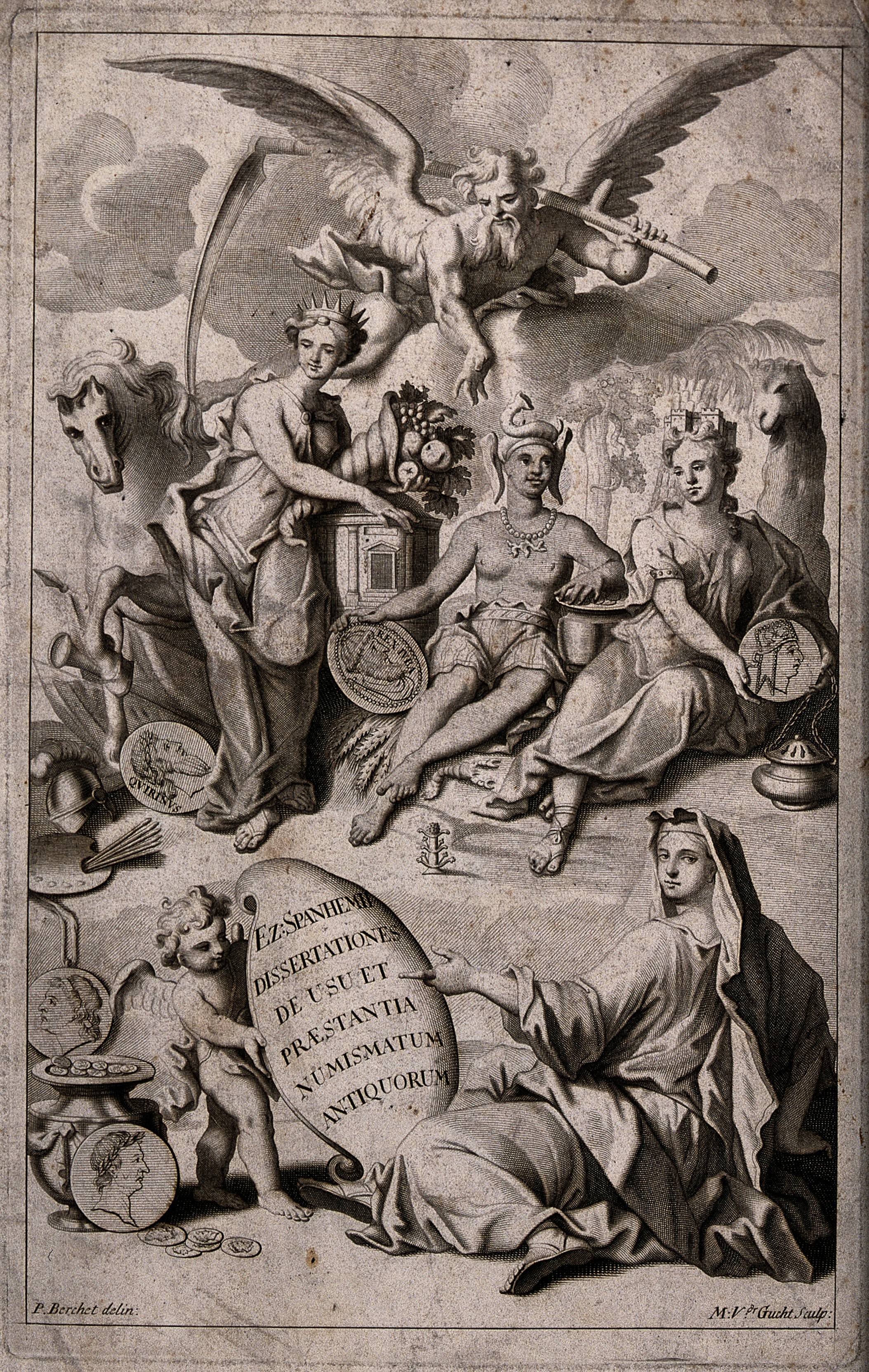 File:People wearing gowns and crowns are surrounded by coins. Eng ...