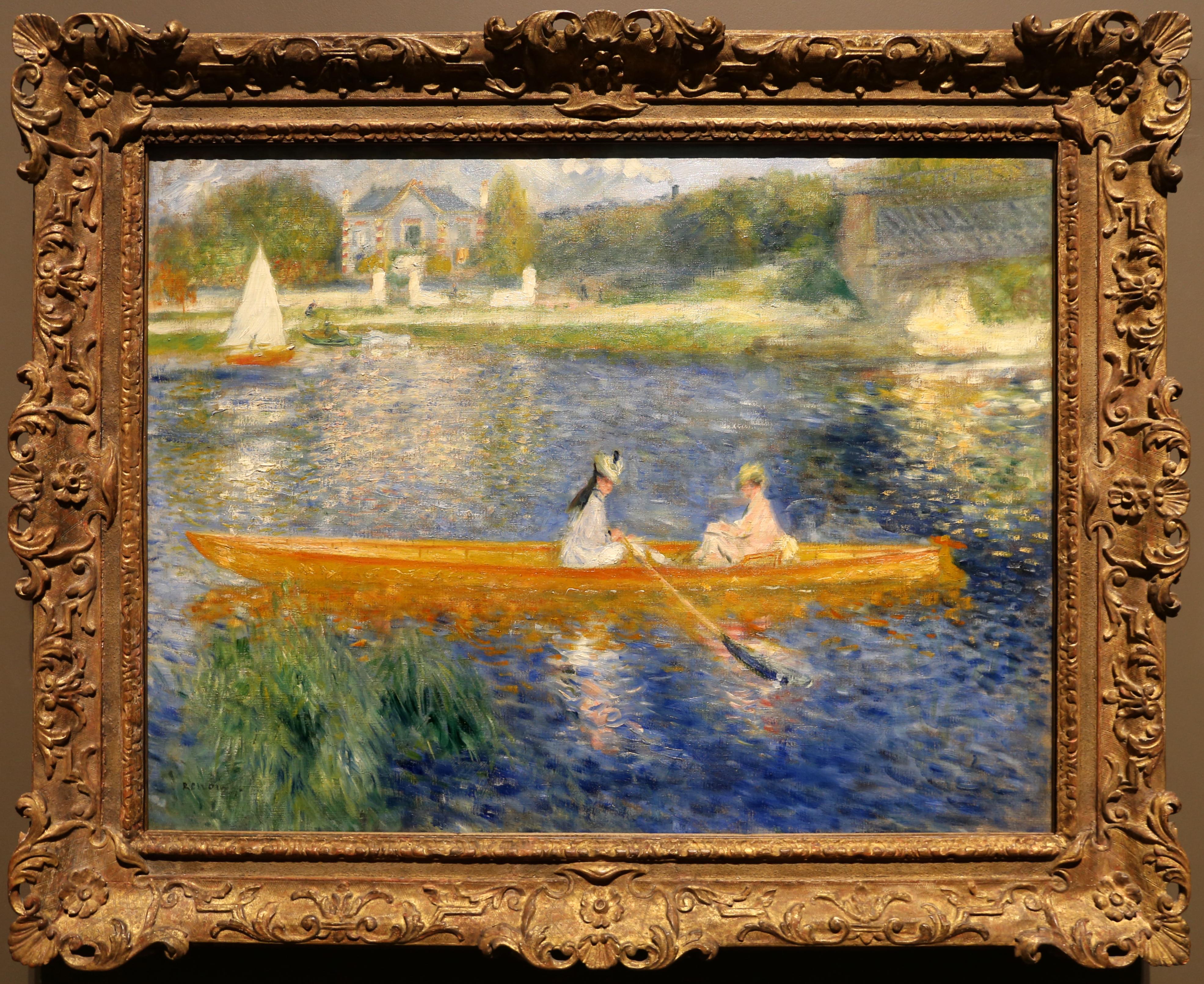 peinture - LU, VU ET ENTENDU DE TRAVERSES Pierre-auguste_renoir%2C_la_yole%2C_1875