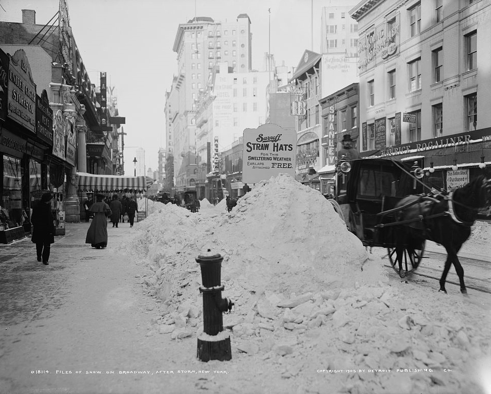 Broadway After Storm 1905 Wikimedia Commons Public Domain