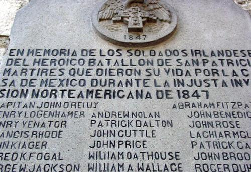 Batallón de San Patricio Placa_conmemorativa_Batallon_de_San_Patricio