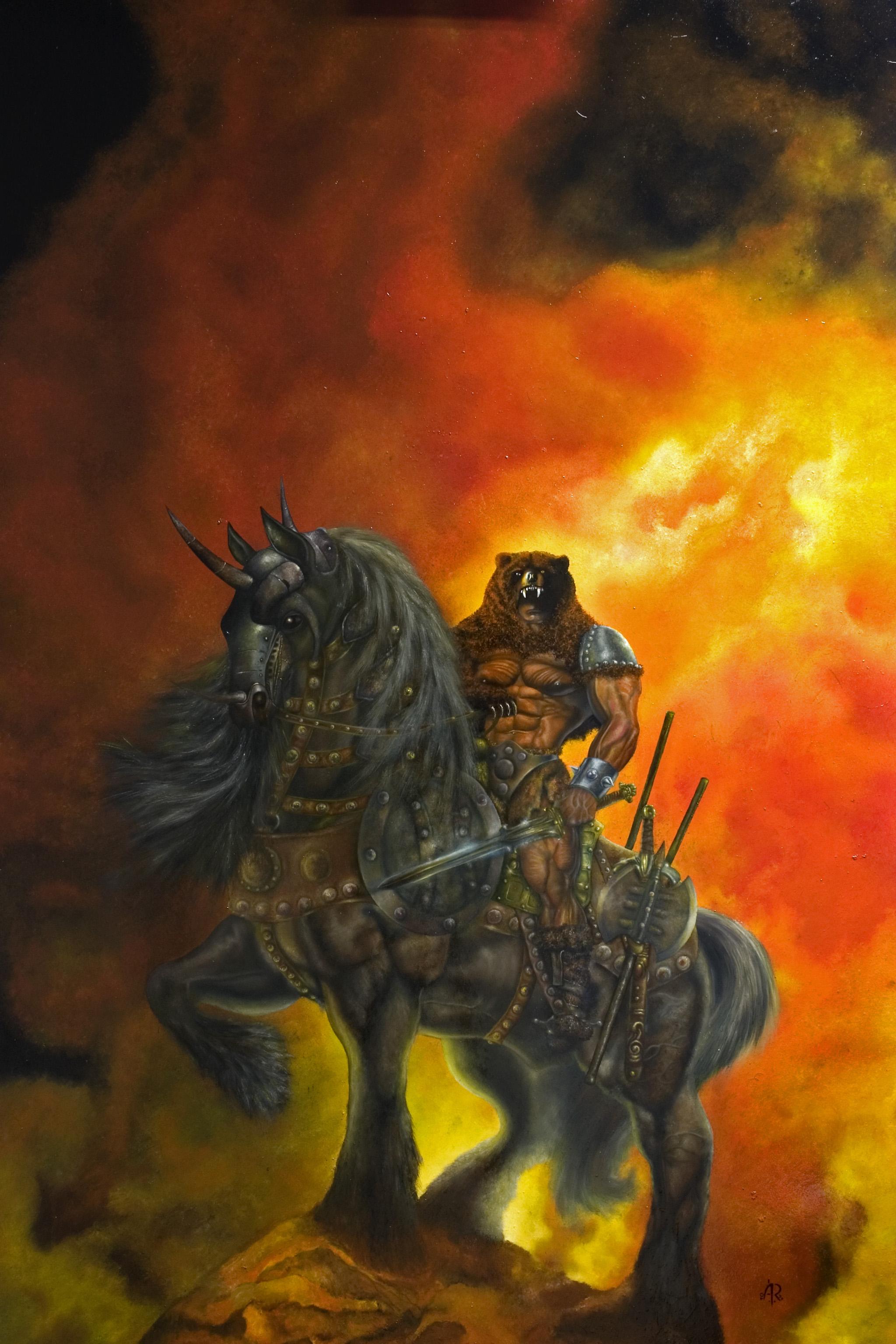 viking warrior painting