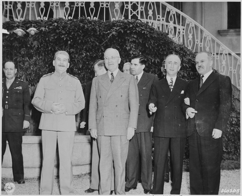 File:President Harry S. Truman visits Soviet Prime Minister Josef Stalin at Mr.
