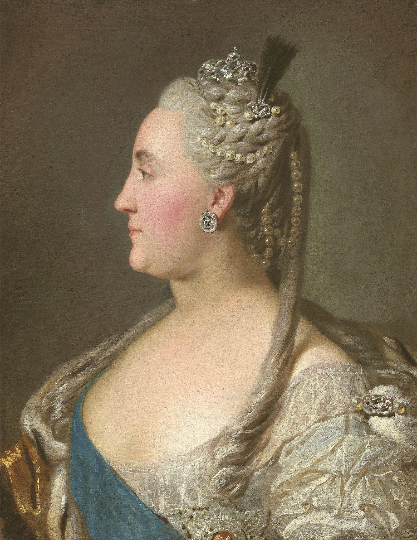 Екатерина 2 в образе афины