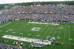 English: Rentschler Field during the first qua...