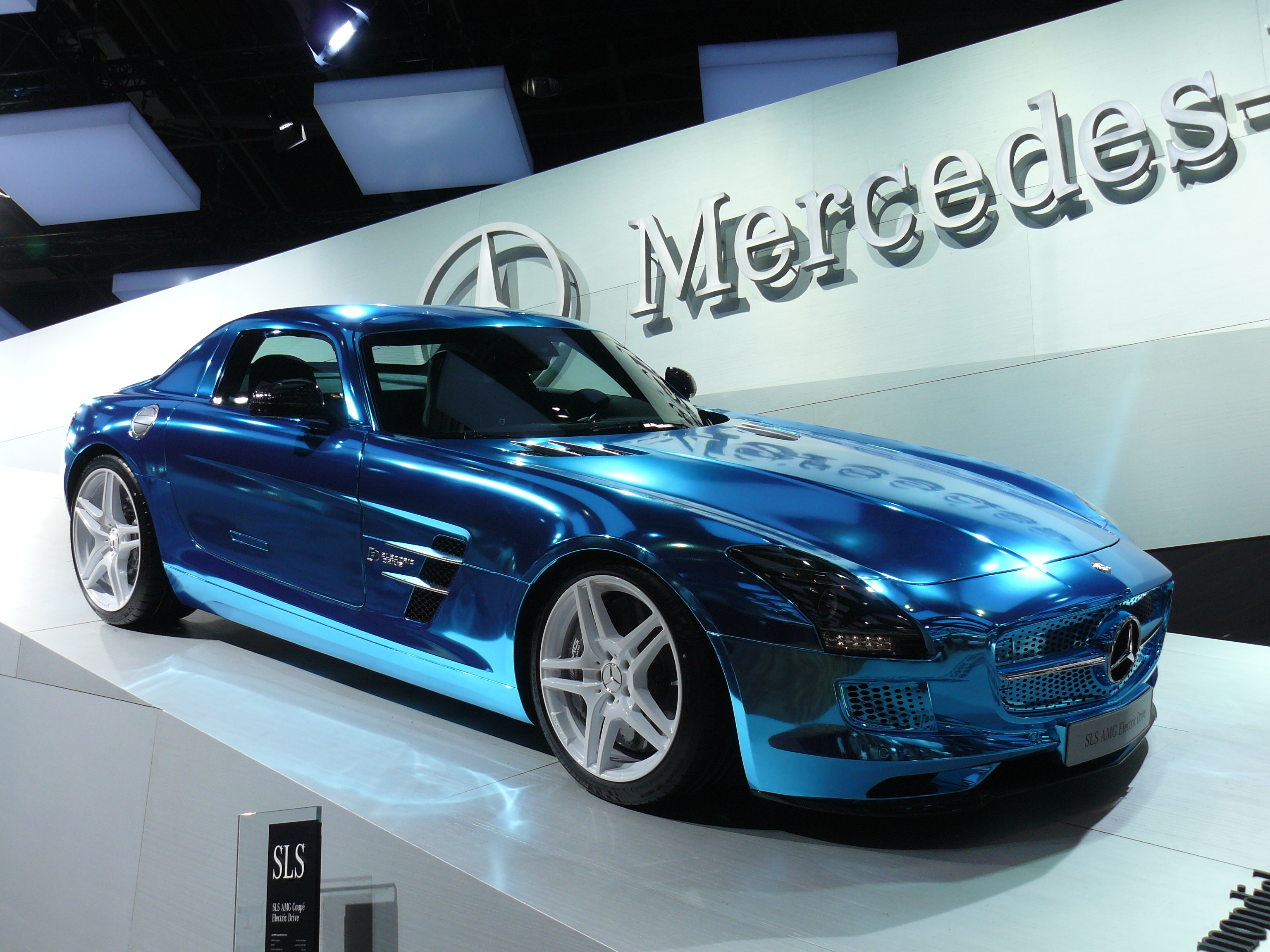 Blue Mercedes Convertible