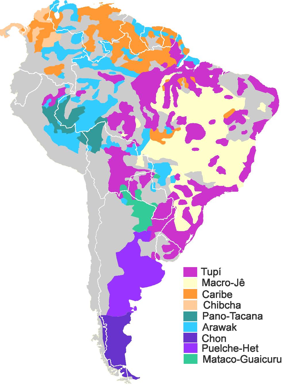 Lenguas Indígenas De América Del Sur Wikipedia La Enciclopedia Libre