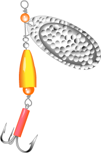 Fishing lure object to attract fish