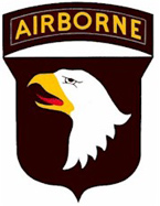 The 101st Airborne (Air Assault) Division patch.