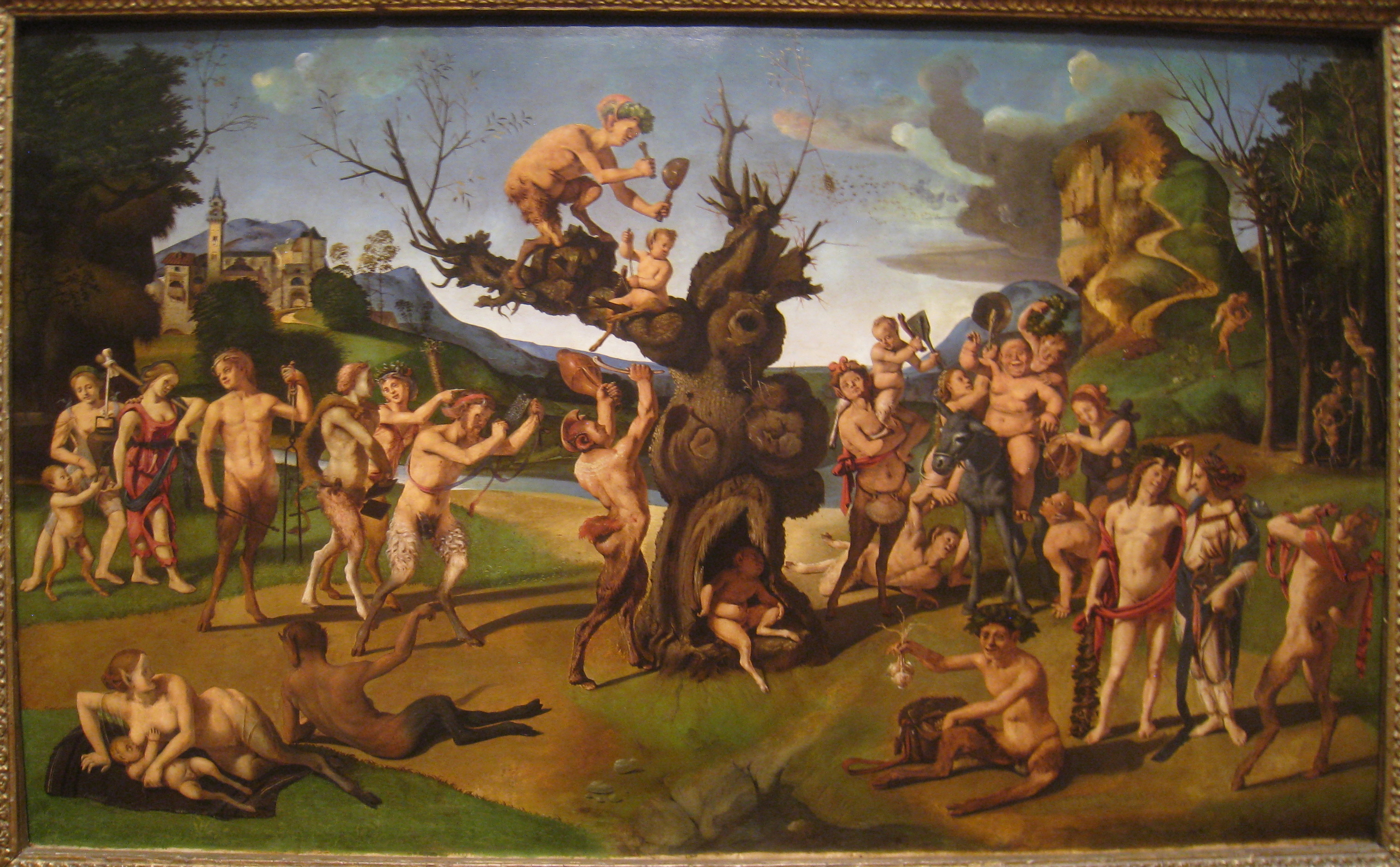 File:The Discovery of Honey by Bacchus, by Piero di Cosimo (c.
