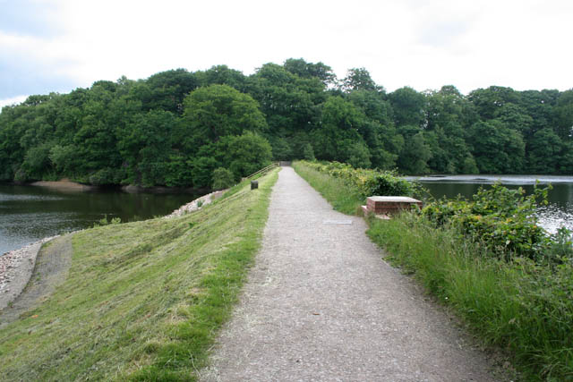The Serpentine dam, Greenway Bank Country Park - geograph.org.uk - 889460