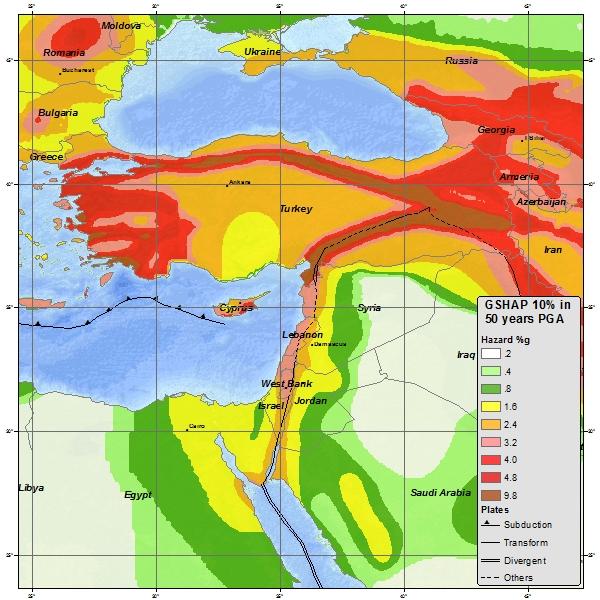 Earthquake Map Turkey