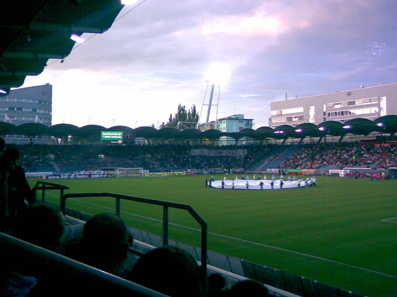 Fußballspiel in der UPC-Arena