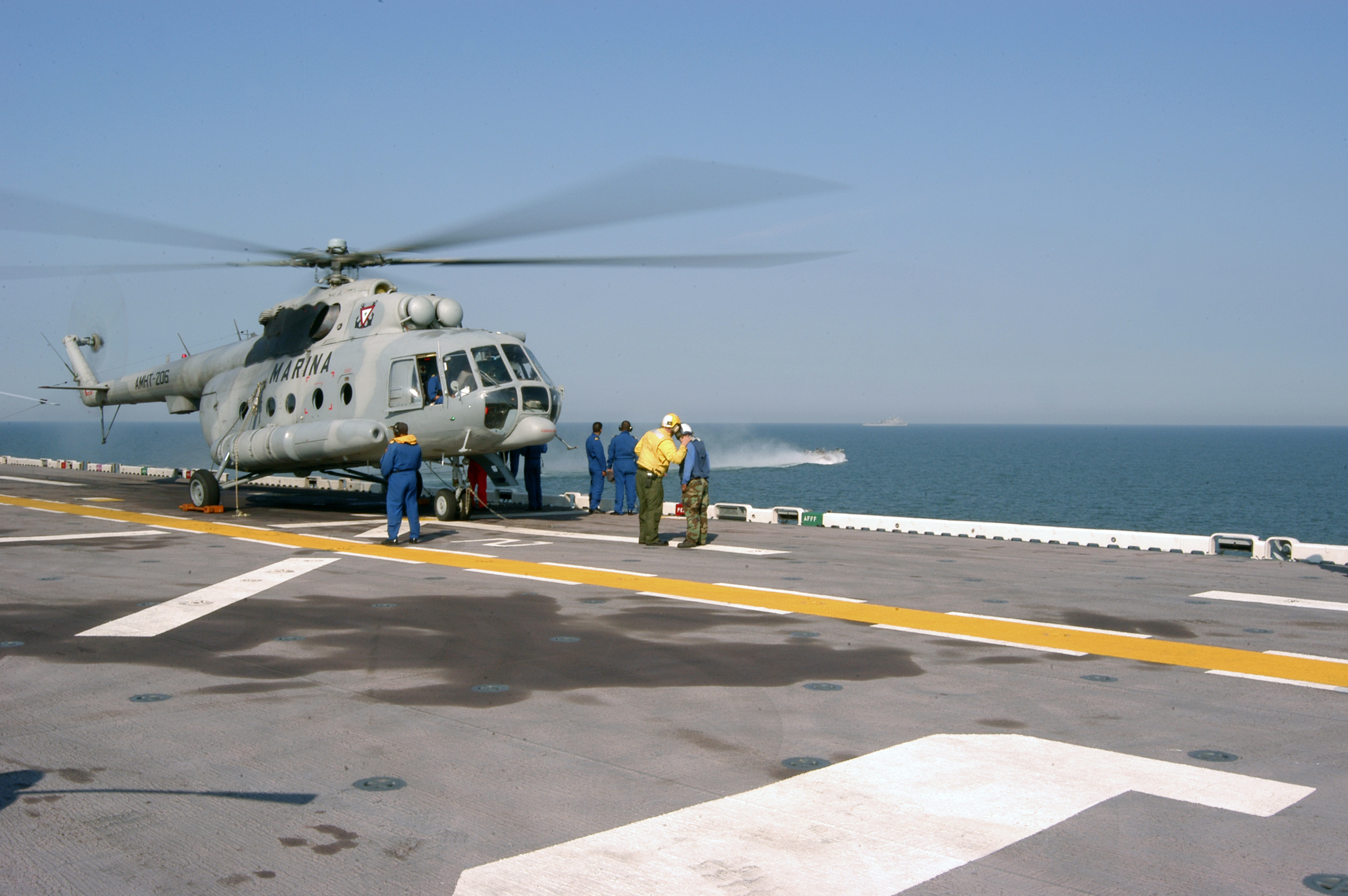 mi helicopter with File Us Navy 050909 N 8154g 045 A Mexican Navy Mi 8 Helicopter Stands By For Passengers On The Flight Deck Aboard The  Hibious Assault Ship Uss Bataan  Lhd 5   Off The Coast Of Mississippi on Rolls Royce Wraith For Sale 10000245 also View photo besides E Mi 1 further Mil Mi17 Czech Air Force Camouflage together with Open photo.