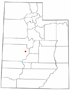 Location of Holden, Utah