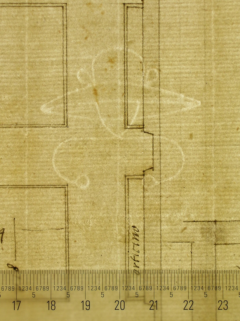 Artist Creator:Anonymous, French, 16th century Title Unidentified palace, plan (recto) blank (verso) Drawing; Drawings Date early to mid-16th