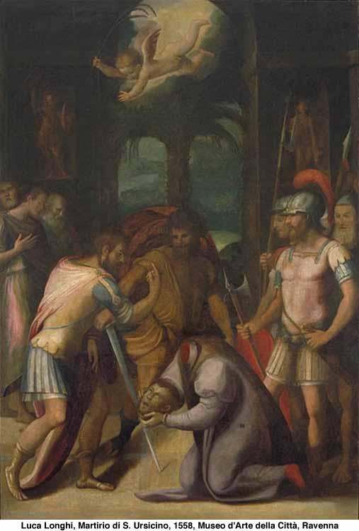 Luca Longhi (1507-80): Martirio di sant'Ursicino (1558), Museo d'Arte della Città di Ravenna
