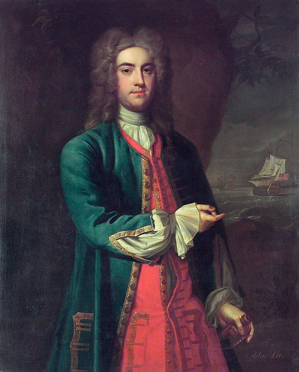 File:Vice-Admiral Fitzroy Henry Lee (1699-1750), by British