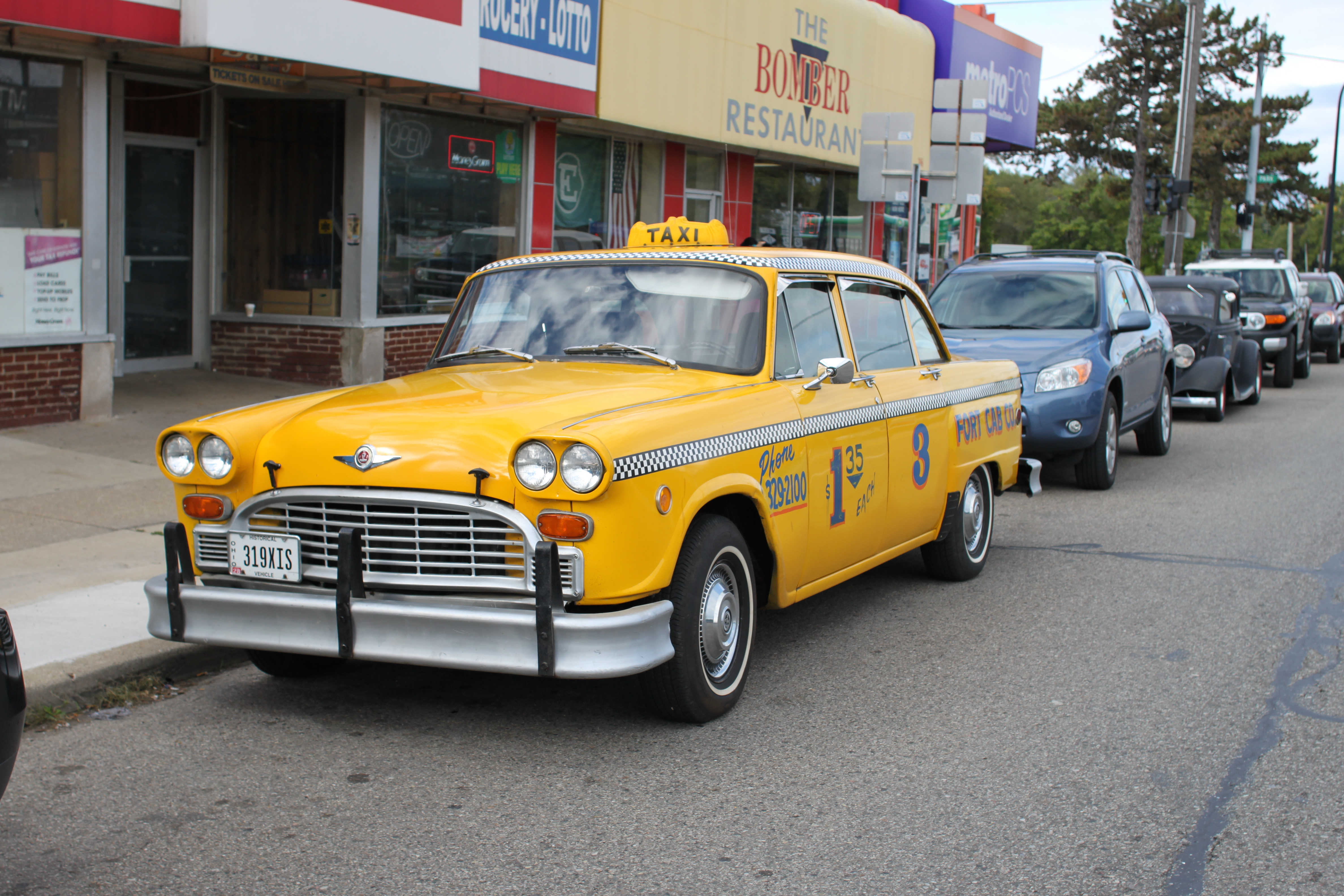 File Vintage Checker Cab Downtown Ypsilanti Michigan Jpg