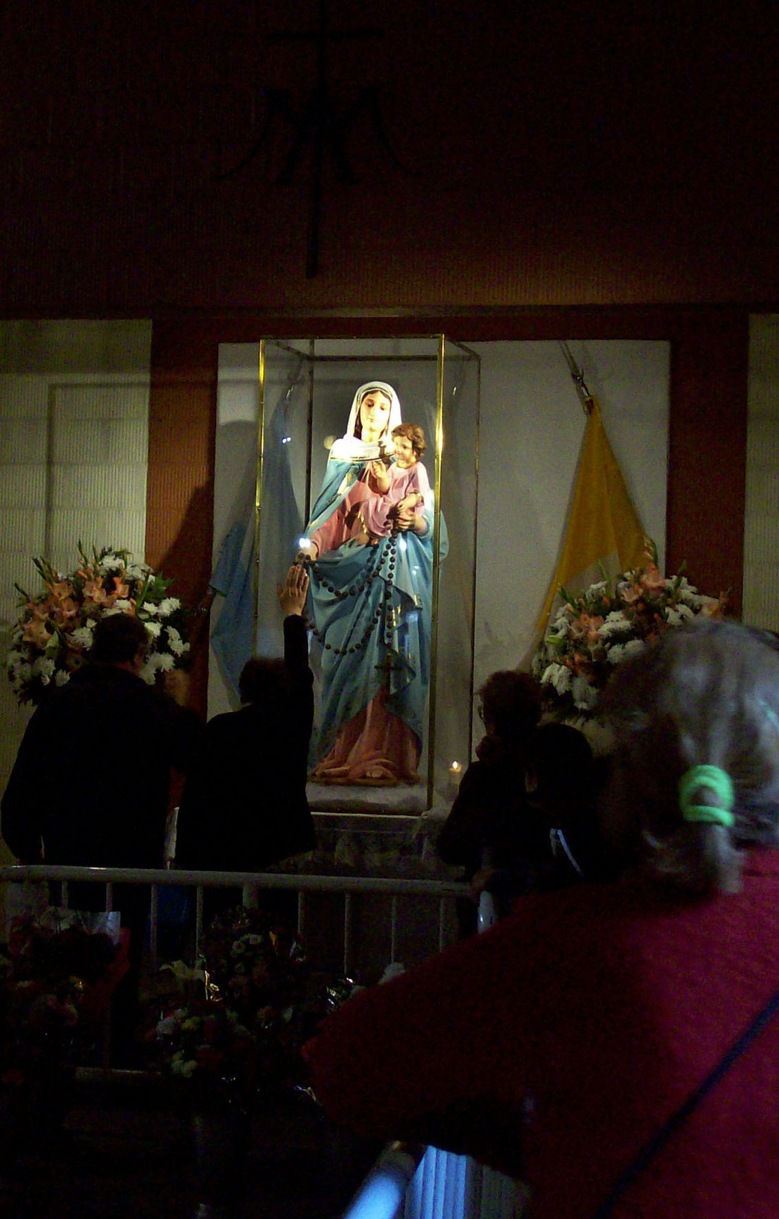 close-up of the statue of Our Lady of the Rosary, blessed by Pope Leo XIII