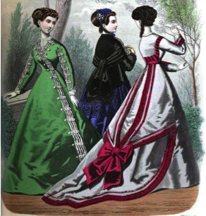 File:1860's Dress featuring a Train..jpg
