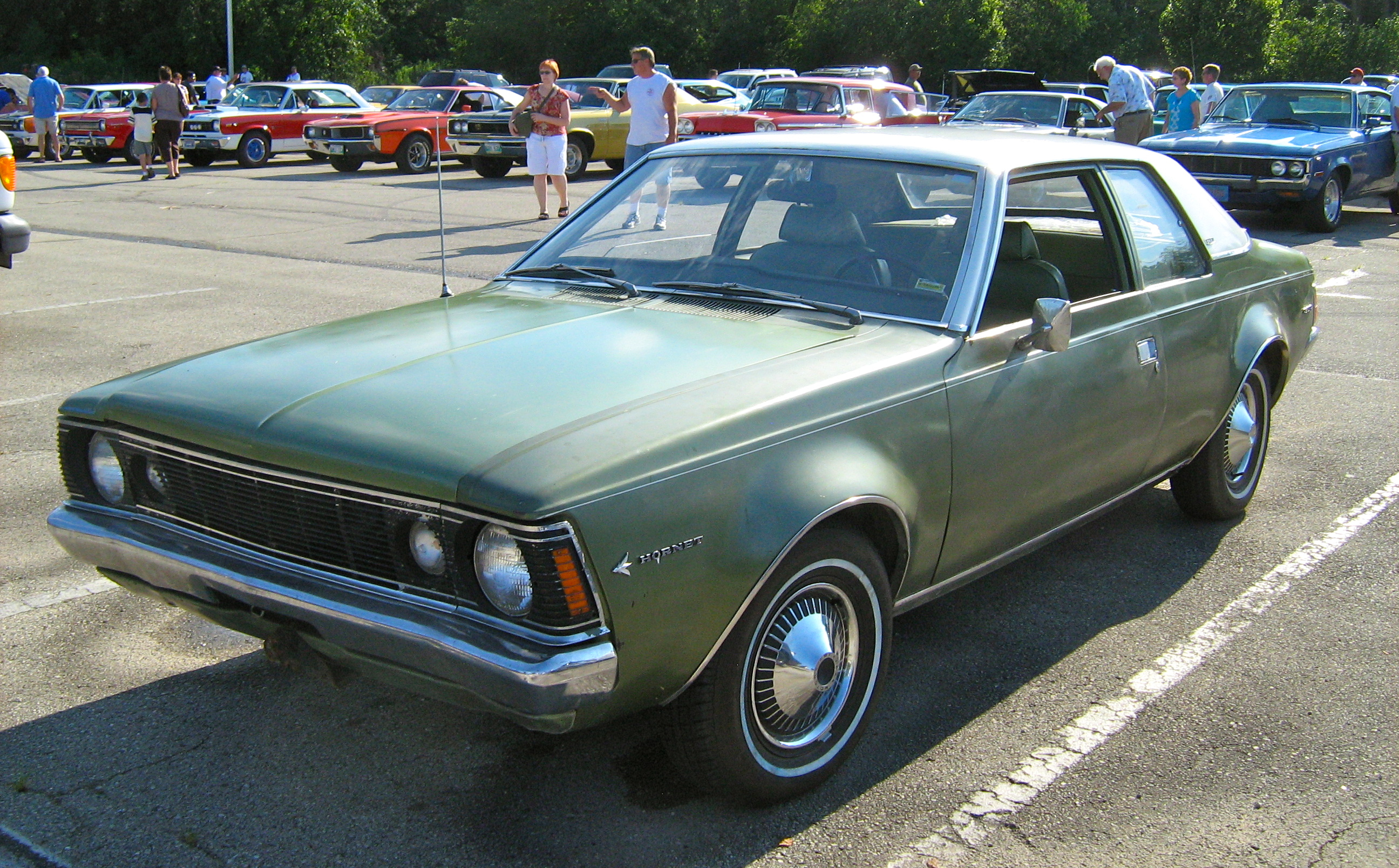 File 1970 Amc Hornet Sst 2 Door Green Kenosha F Jpg