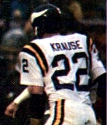 Krause playing for the Vikings in 1977.
