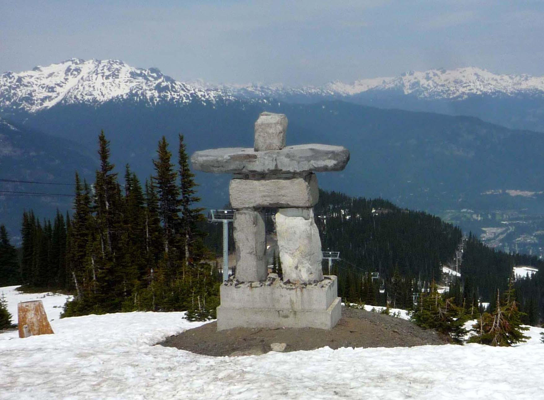 Statue of '''Ilanaaq the Inunnguaq''', mascot of the '''2010 Winter Olympics''', located at the top of the Whistler Village Lift at the Whistler Blackcomb