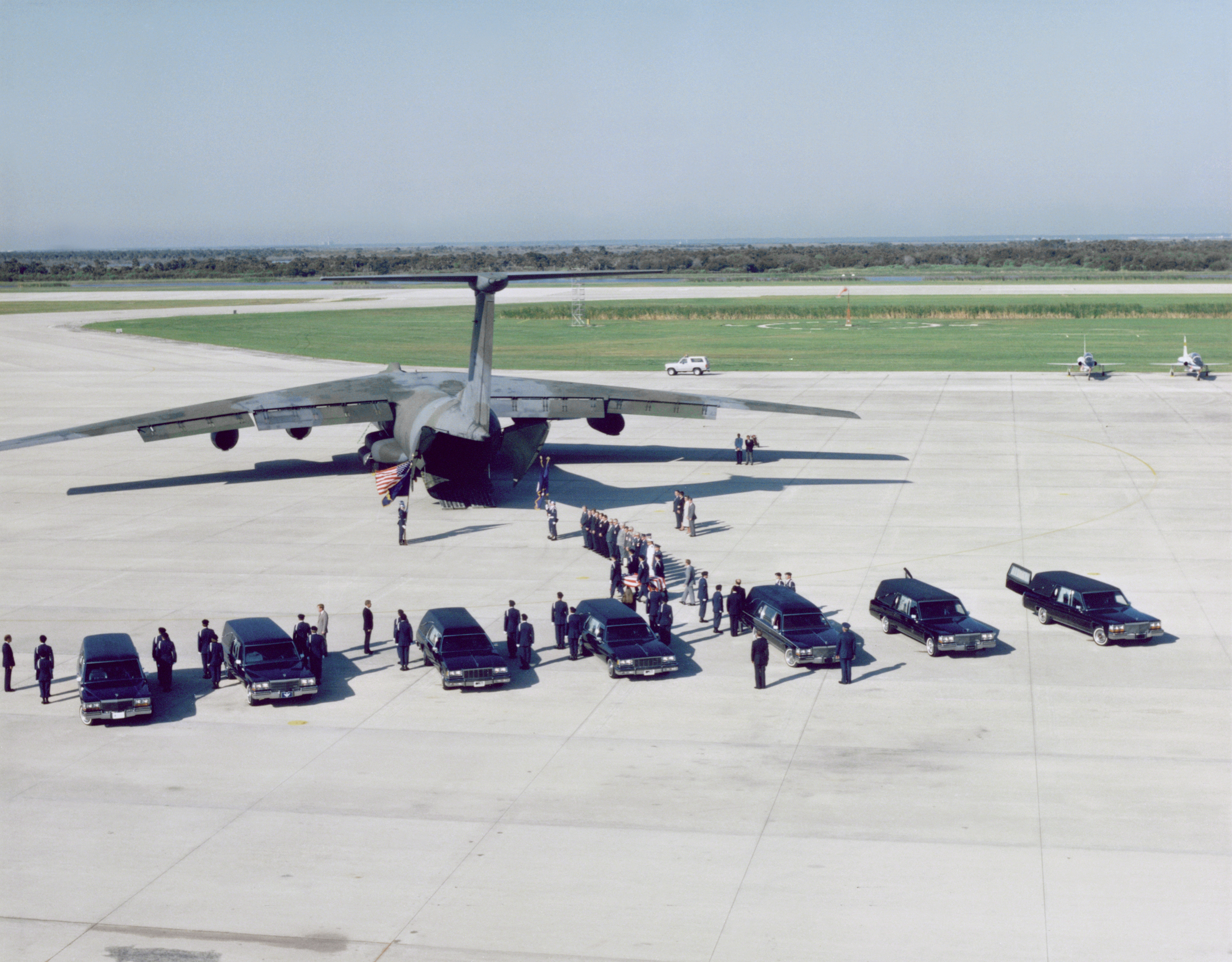 File:51-L Challenger Crew Remains Transferred (16318321587 ...