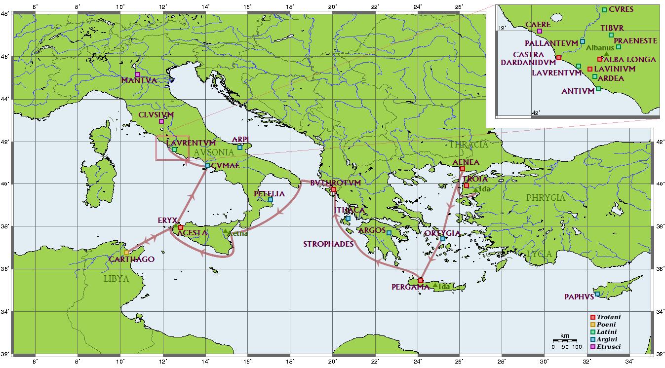 Troie Ville Carte