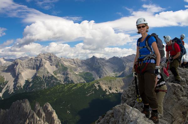 Klettersteig Innsbruck : Austrianimages nordkette innsbruck klettersteig kletterin