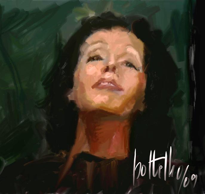 Retrato de Amália por Bottelho