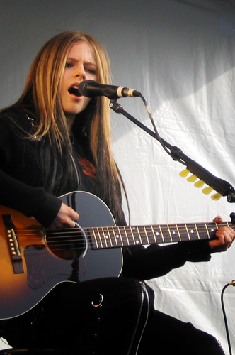 Lavigne in Vancouver during her promotional tour for Under My Skin in 2004 Avril Lavigne in Burnaby, 2004.jpg