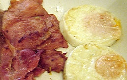 Bacon and eggs plate 4