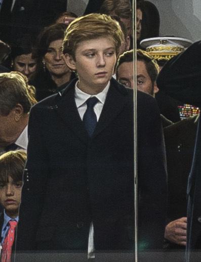 Barron Trump at Inaugural parade 01-20-17 B