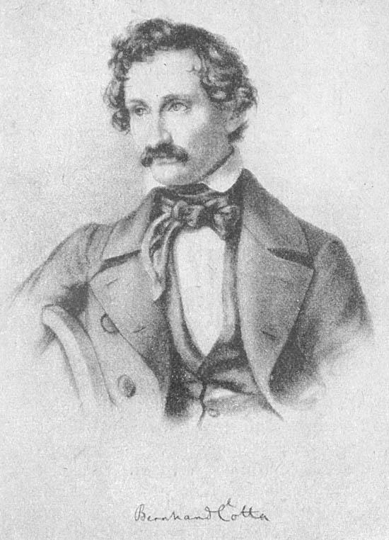 Bernhard von Cotta in 1847 (lithograph)