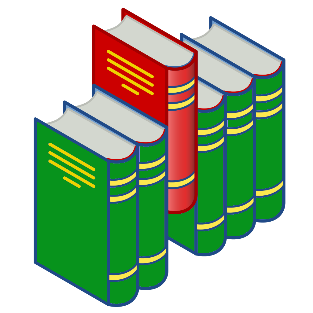 File Bookshelf Icon Red And Green Png Wikimedia Commons