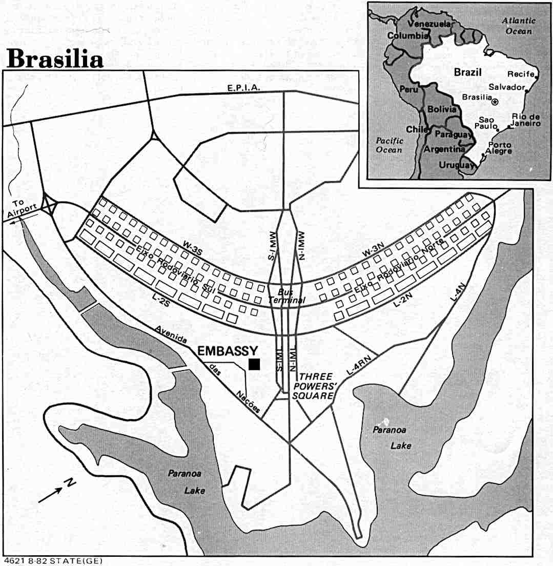 Planta do Plano Piloto, Brasília, DF