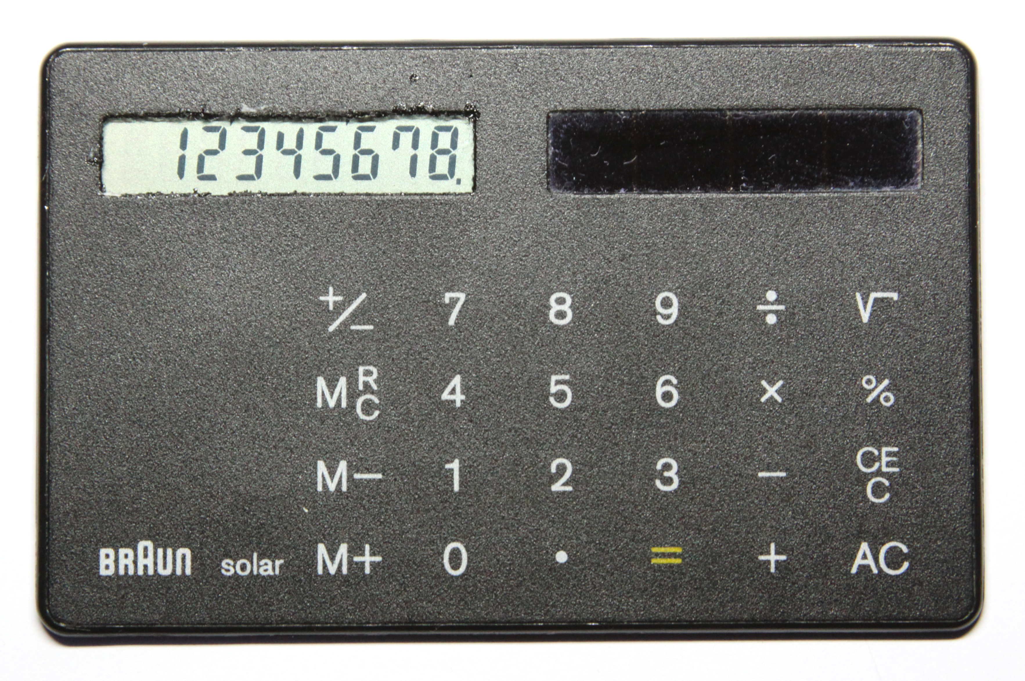 Calculator Wikipedia Scientificcalculatorcircuitboardmadeinchinajpg Credit Card Sized Solar Powered By Braun 1987