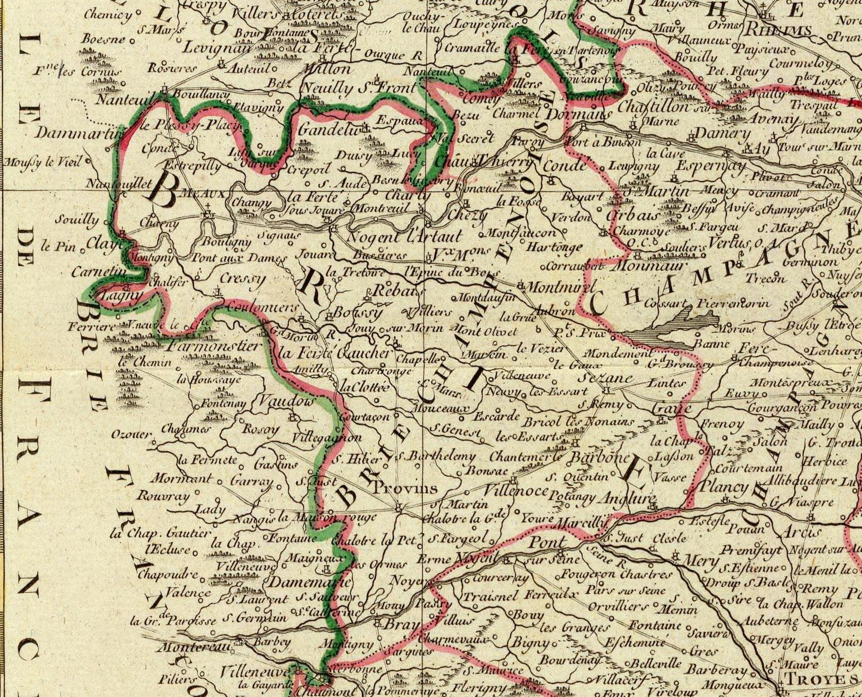 Une carte touristique de la brie champenoise de 1771 for Fenetre de la brie
