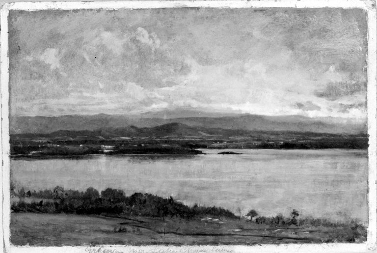 Brooklyn Museum - Green Mountains, Lake Champlain - Winckworth Allan Gay - overall.jpg