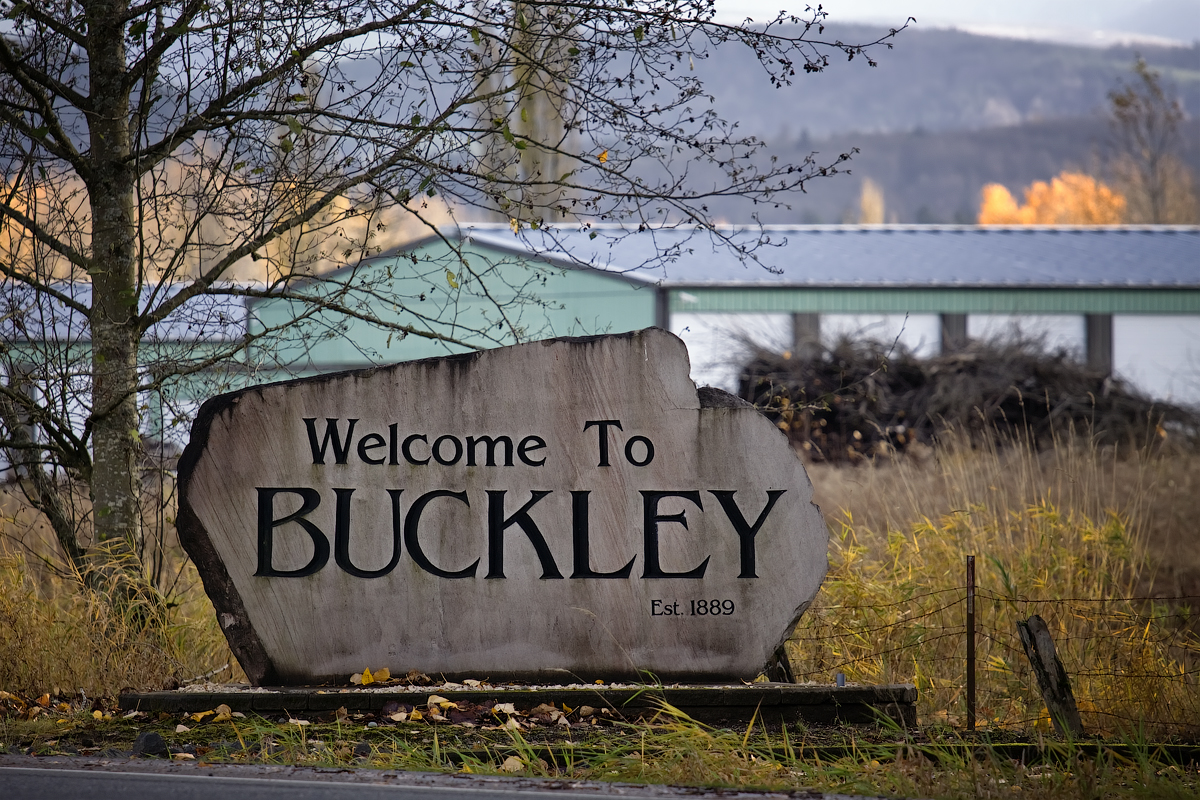 Buckley (WA) United States  City new picture : Description Buckley Welcome Sign