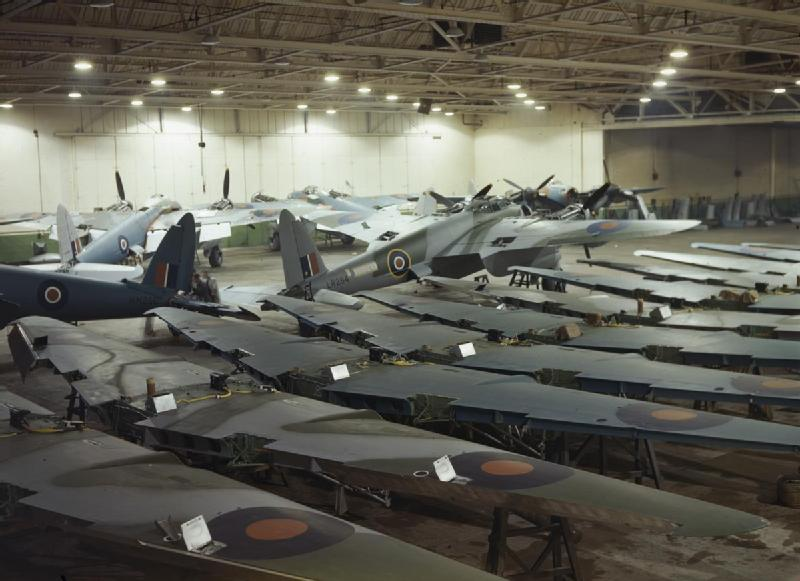 File Building Mosquito Aircraft At The De Havilland