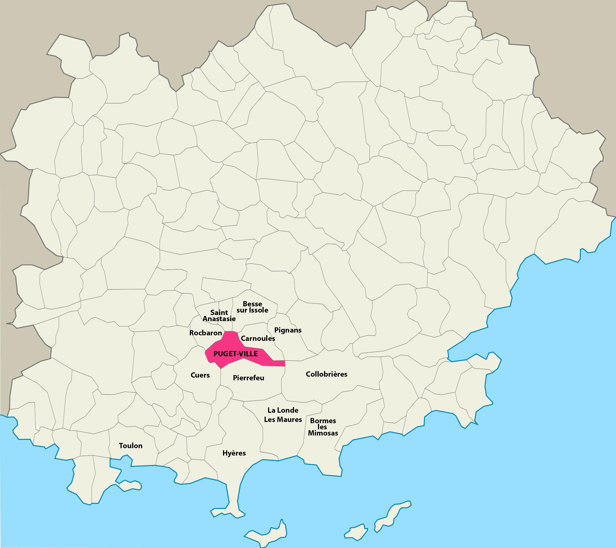 File:CARTE DU VAR   PUGET VILLE.   Wikimedia Commons