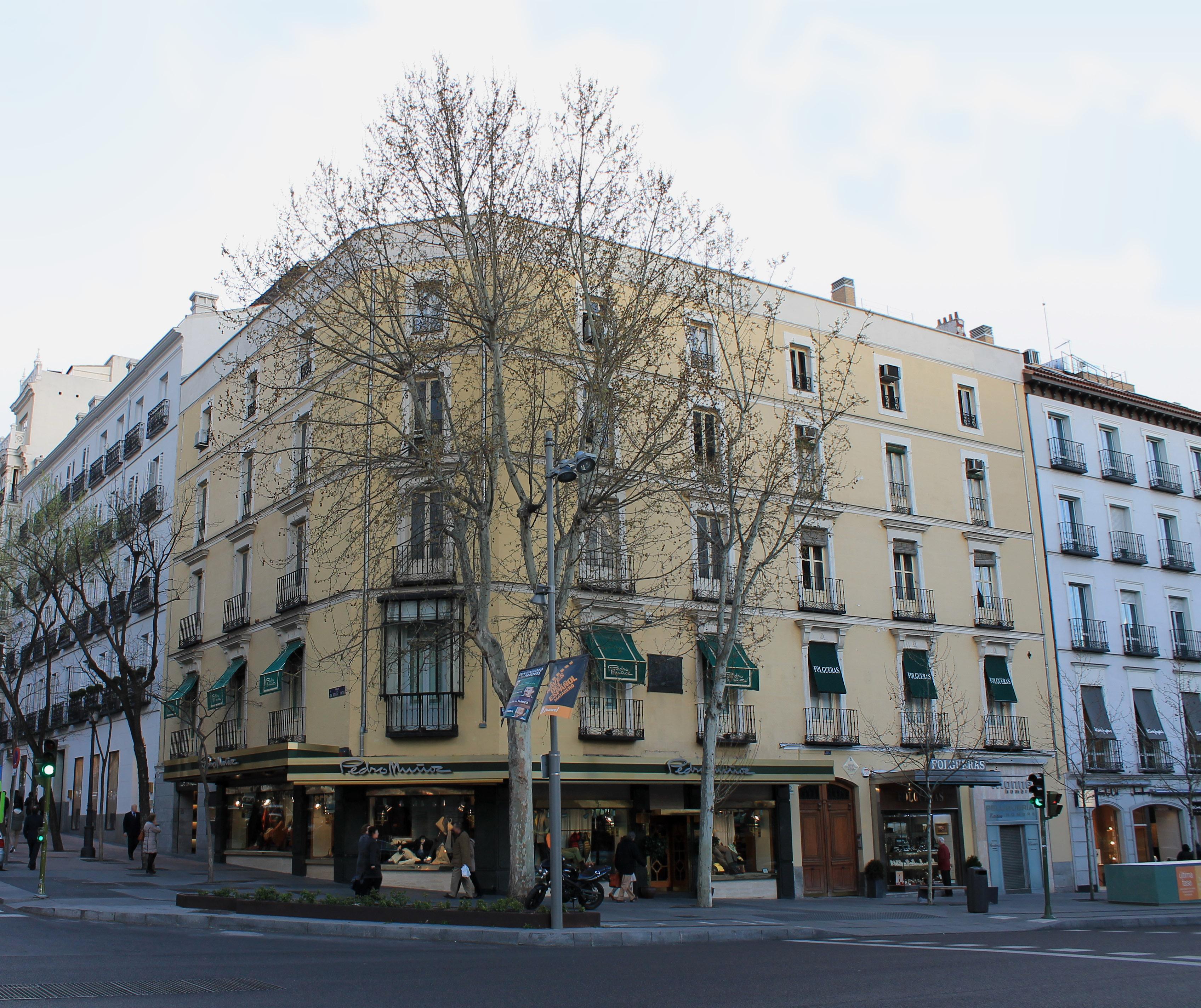 Casa madrileña de la calle Serrano en la que vivió Falla de 1901 a 1907.