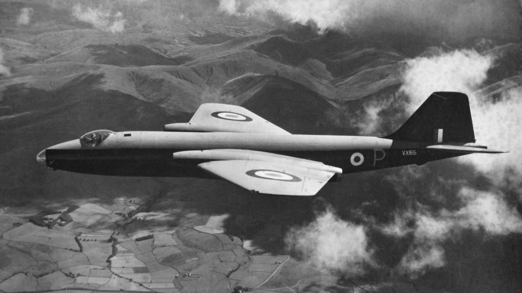 The first Canberra B2 prototype, VX165.