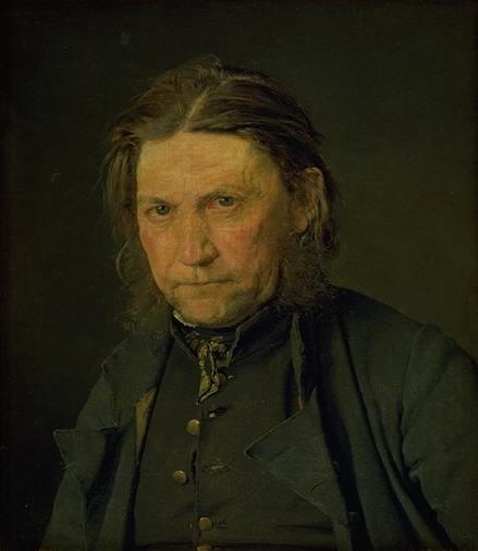 Christen Købke - Portrait of an Old Sailor - KMS577 - Statens Museum for Kunst