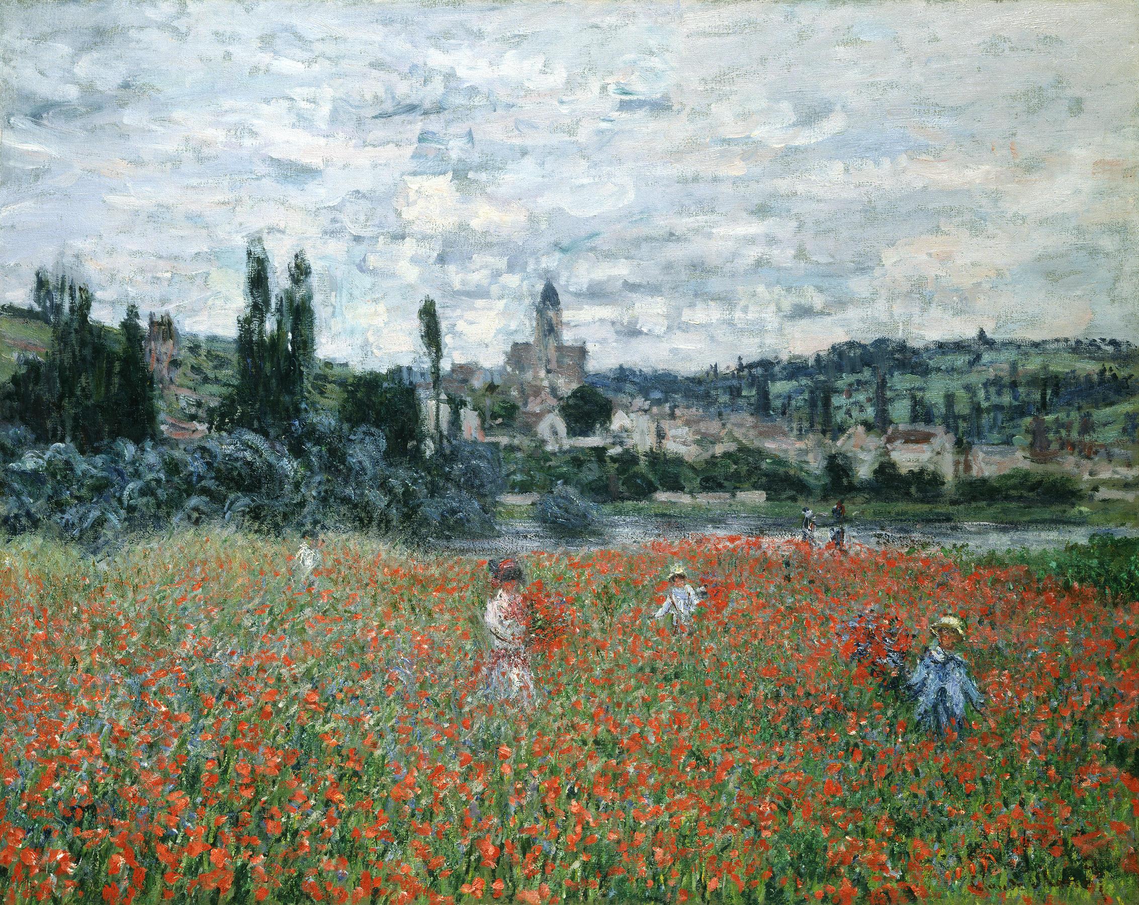 Campo di papaveri a Vetheuil